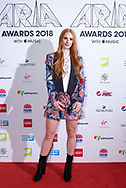 Vera Blue at The 2018 ARIA Awards at The Star in Sydney, Australia