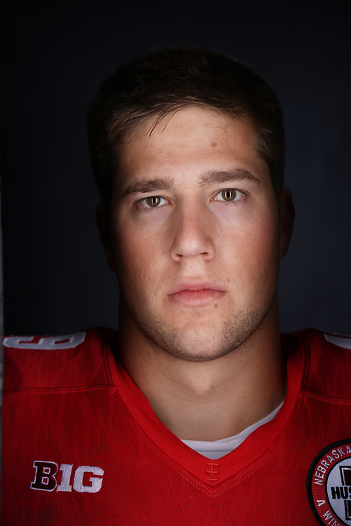 CHRIS WEBER #49, during a portrait session at Memorial Stadium in Lincoln, Neb. on June 7, 2017. Photo by Paul Bellinger, Hail Varsity
