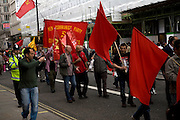 May Day march and rally at Trafalgar Square, May 1st, 2010 New Communist Party Central Committee banner