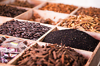 Spices and herbs for sale in a local market , Sarawak