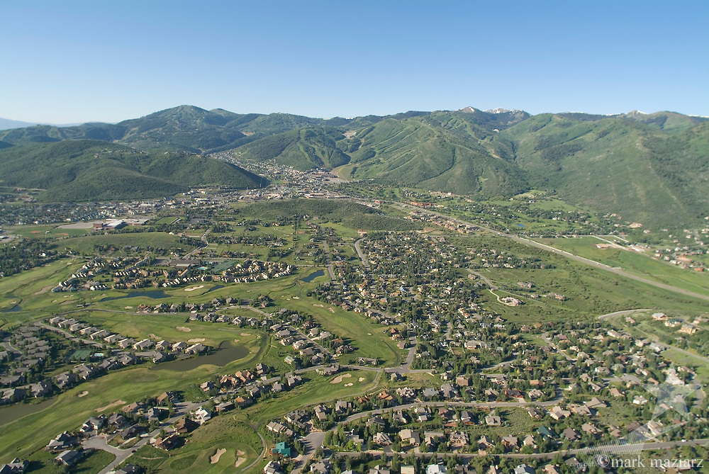 Park City summer scenics from hot air balloon over Park Meadows