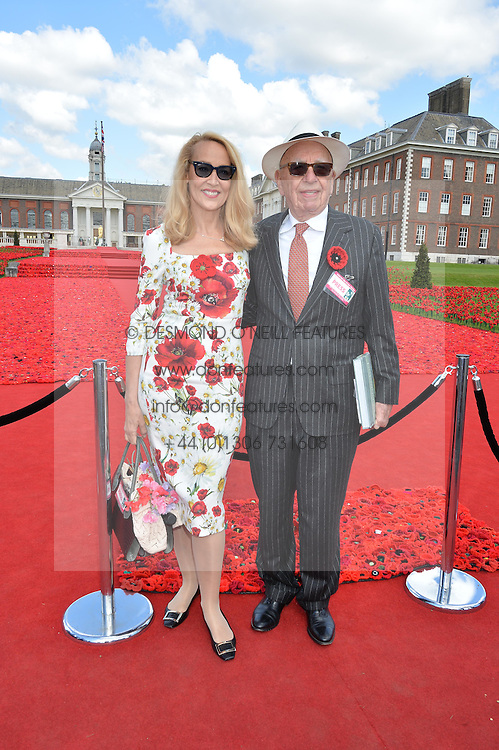 RUPERT MURDOCH and his wife JERRY HALL at the 2016 RHS Chelsea Flower Show, Royal Hospital Chelsea, London on 23rd May 2016