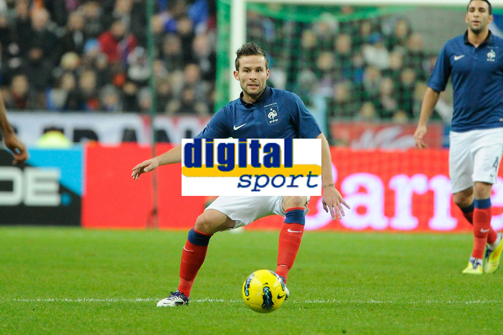 FOOTBALL - FRIENDLY GAME 2011 - FRANCE v BELGIUM - 15/11/2011 - PHOTO JEAN MARIE HERVIO / DPPI - YOHAN CABAYE (FRA)