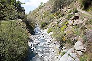 River Rio Poqueira gorge valley, High Alpujarras, Sierra Nevada, Granada Province, Spain