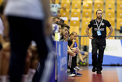 Head coach of Germany during handball match between National teams of Germany and France in Semifinal of 2018 EHF U20 Men's European Championship, on July 25, 2018 in Arena Zlatorog, Celje, Slovenia. Photo by Urban Urbanc / Sportida