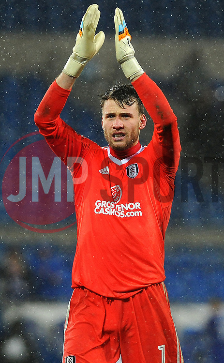 Marcus Bettinelli of Fulham thanks fans after the full time whistle - Mandatory by-line: Nizaam Jones/JMP- 26/12/2017 -  FOOTBALL - Cardiff City Stadium - Cardiff, Wales -  Cardiff City v Fulham - Sky Bet Championship