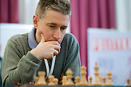 Michael Adams from England during European Team Chess Championships 2013 at Novotel Hotel in Warsaw on November 10, 2013.<br /> <br /> Poland, Warsaw, November 10, 2013<br /> <br /> Picture also available in RAW (NEF) or TIFF format on special request.<br /> <br /> For editorial use only. Any commercial or promotional use requires permission.<br /> <br /> Mandatory credit:<br /> Photo by © Adam Nurkiewicz / Mediasport