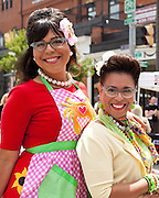 Lolita Bass and and Nikki Bass pose for a photo at Honfest 2014 in Baltimore, MD on Saturday, June 14, 2014.