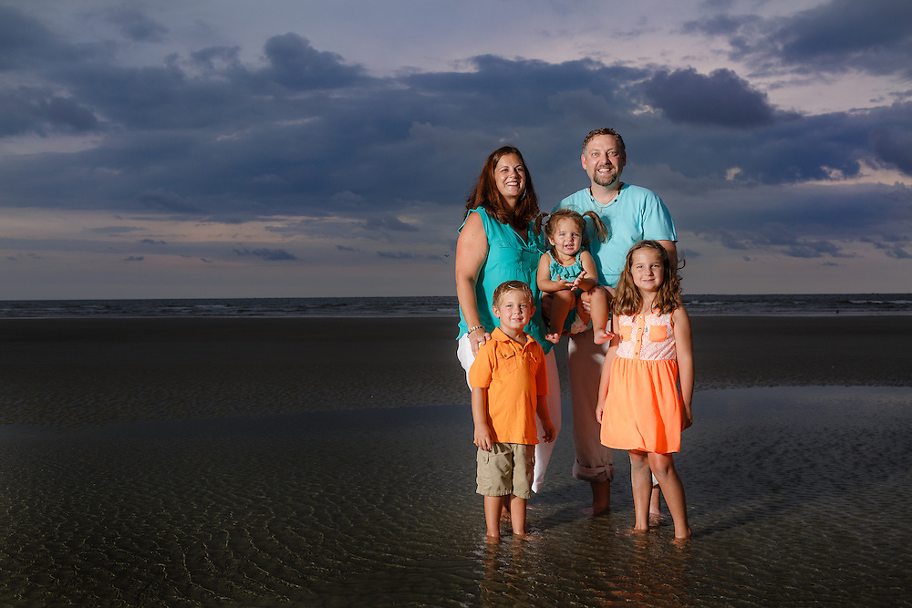 Images from a family beach portrait session at Sullivan's Island near Charleston and Isle of Palms, South Carolina.