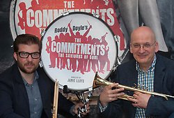 Roddy Doyle's The Commitments on stage for the first time at the Palace theatre, Shaftesbury Avenue. Author Roddy Doyle plays trumpet as Director Jamie Lloyd plays the drums, London, UK, Tuesday, 23rd April 2013. Photo by: i-Images