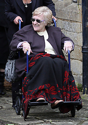 Robin Gibb's mother Barbara   at his funeral in Thame, Oxfordshire, Friday, 8th June  2012  Photo by: Stephen Lock / i-Images
