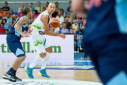 Nebojsa Joksimovic of Slovenia during friendly match between National teams of Slovenia and Bosnia and Herzegovina for Eurobasket 2013 on August 16, 2013 in Podmezakla, Jesenice, Slovenia. (Photo by Urban Urbanc / Sportida.com)