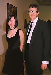 Art collectors MR & MRS JAY JOPLING, at a dinner in London on 8th March 1999.MPC 28