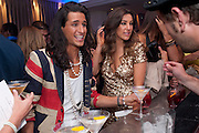 OLLIE LOCKE;  GABRIELLA ELLIS, The London Bar and Club awards. Intercontinental Hotel. Park Lane, London. 6 June 2011. <br /> <br />  , -DO NOT ARCHIVE-© Copyright Photograph by Dafydd Jones. 248 Clapham Rd. London SW9 0PZ. Tel 0207 820 0771. www.dafjones.com.