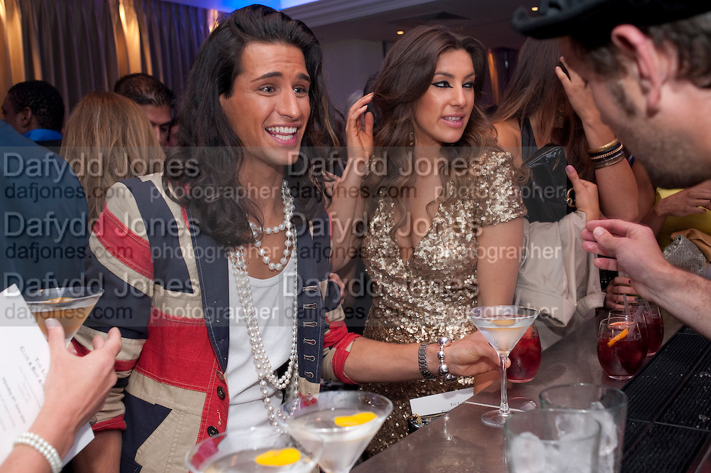 OLLIE LOCKE;  GABRIELLA ELLIS, The London Bar and Club awards. Intercontinental Hotel. Park Lane, London. 6 June 2011. <br /> <br />  , -DO NOT ARCHIVE-&copy; Copyright Photograph by Dafydd Jones. 248 Clapham Rd. London SW9 0PZ. Tel 0207 820 0771. www.dafjones.com.