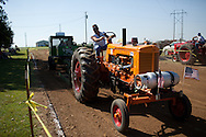 An annual tractor pull is held in Girard, Kansas, Sep. 6, 2010.