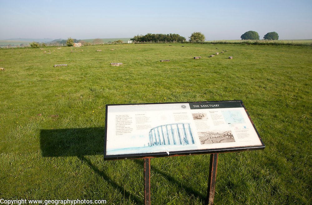 The Sanctuary megalithic henge site at East Kennett, Wiltshire, England, UK