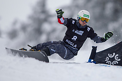 Alexander Payer (AUT) during Final Run at Parallel Giant Slalom at FIS Snowboard World Cup Rogla 2019, on January 19, 2019 at Course Jasa, Rogla, Slovenia. Photo byJurij Vodusek / Sportida