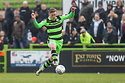 Forest Green Rovers Dayle Grubb(8) controls the ball during the EFL Sky Bet League 2 match between Forest Green Rovers and Mansfield Town at the New Lawn, Forest Green, United Kingdom on 24 March 2018. Picture by Shane Healey.