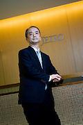 Michitaka Nakatomi, president of Japan External Trade Organization (JETRO), poses for a photo at the organization's headquarters in Tokyo, Japan on Thursday 17 Aug. 2010..Photographer: Robert Gilhooly