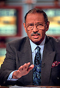 Rep. John Conyers, ranking democratic member of the House Judiciary committee discusses the upcoming impeachment hearings against President Clinton during NBC's Meet the Press October 4, 1998 in Washington, DC.