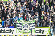 FGR supporters during the EFL Sky Bet League 2 match between Forest Green Rovers and Salford City at the New Lawn, Forest Green, United Kingdom on 18 January 2020.