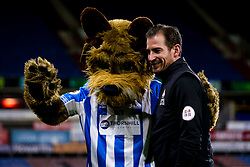 Huddersfield Town manager Jan Siewert with the club's Terrier Mascot - Mandatory by-line: Robbie Stephenson/JMP - 29/01/2019 - FOOTBALL - The John Smith's Stadium - Huddersfield, England - Huddersfield Town v Everton - Premier League