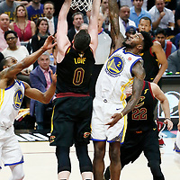CLEVELAND, CA - JUN 8:  in Game Four of the 2018 NBA Finals won 108-85 by the Golden State Warriors over the Cleveland Cavaliers at the Quicken Loans Arena on June 6, 2018 in Cleveland, Ohio. NOTE TO USER: User expressly acknowledges and agrees that, by downloading and or using this photograph, User is consenting to the terms and conditions of the Getty Images License Agreement. Mandatory Copyright Notice: Copyright 2018 NBAE (Photo by Chris Elise/NBAE via Getty Images)