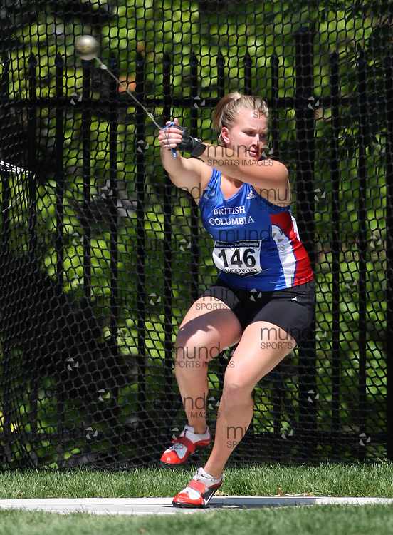 (Toronto, Ontario---27/06/09)   Megann Vandervliet competing in  women's hammer throw at the 2009 Canadian National Track and field Championships. Photograph copyright Sean Burges / Mundo Sport Images, 2009. www.mundosportimages.com / www.msievents.