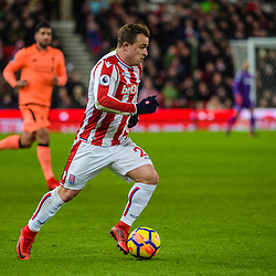 Stoke City midfielder Xherdan Shaqiri (22) during the Premier League match between Stoke City and Liverpool<br /> (c) John Baguley | SportPix.org.uk