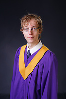 High school graduation portraits with the cap & gown in the studio.<br /> <br /> ©2020, Sean Phillips<br /> http://www.RiverwoodPhotography.com