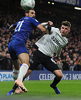 Football - 2018 / 2019 EFL Carabao (League) Cup - Fourth Round: Chelsea vs. Derby County<br /> <br /> Jason Mount of Derby is challenged by Davide Zappacosta of Chelsea, at Stamford Bridge.<br /> <br /> COLORSPORT/ANDREW COWIE