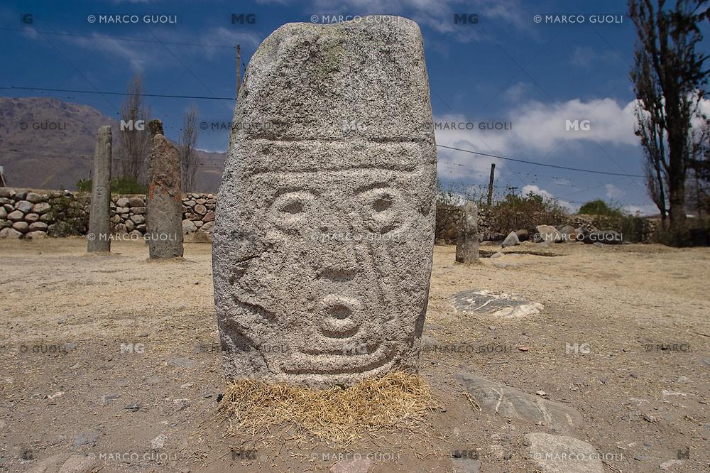 MENHIR, RESERVA ARQUEOLOGICA LOS MENHIRES, EL MOLLAR, TAFI DEL VALLE, PROV. DE TUCUMAN, ARGENTINA