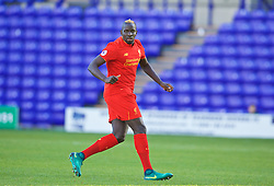 BIRKENHEAD, ENGLAND - Sunday, October 23, 2016: Liverpool's Mamadou Sakho in action against Everton during the Mini-Derby FA Premier League 2 Under-23 match at Prenton Park. (Pic by David Rawcliffe/Propaganda)