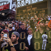 &quot;Seventh Inning Stretch.&quot; White Sox opening day on Monday, March 31, 2014 at U.S. Cellular Field. Made with three exposures in camera. (Brian Cassella/Chicago Tribune) B583640404Z.1 <br /> ....OUTSIDE TRIBUNE CO.- NO MAGS,  NO SALES, NO INTERNET, NO TV, CHICAGO OUT, NO DIGITAL MANIPULATION...