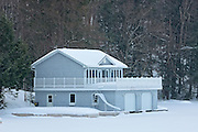 Cottage in winter<br /> Muskoka Country<br /> Ontario<br /> Canada