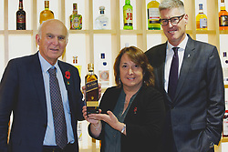 Liberal Democrat leader Vince Cable with Christine Jardine, Lib Dem MP for Edinburgh West and David Cutter, chairman of Diageo Scotland, at the Diageo offices, Edinburgh Gyle. pic copyright Terry Murden @edinburghelitemedia