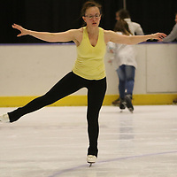 Marsha Meeks, a competitive skater, practices her techniques Saturday at the Bancorpsouth Arena