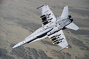 F/A-18 Hornet with Mark-82 500-lb bombs over Fallon ranges