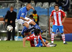 14.06.2010, Cape Town Stadium, Kapstadt, RSA, FIFA WM 2010, Italien vs Paraguay im Bild Simone Pepe (Italia)., EXPA Pictures © 2010, PhotoCredit: EXPA/ InsideFoto/ G. Perottino, ATTENTION! FOR AUSTRIA AND SLOVENIA ONLY!!! / SPORTIDA PHOTO AGENCY