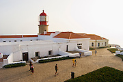 EN. Lighthouse and fortress in Cape St. Vincent. Sagres, Algarve, Portugal.<br /> ES. Faro y fortaleza en Cabo San Vicente. Sagres, Algarve, Portugal.