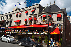 Exterior of Sir Winston Churchill Pub / Winnie's, Crescent Street, downtown, Montreal, Quebec, Canada