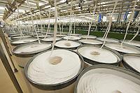 Spinning factory materials