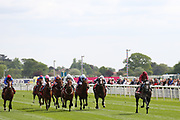 ROARING LION (6) ridden by jockey Oisin Murphy and trained by John Gosden wins The Group 2 Betfred Dante Stakes over 1m 2f (£165,000) at the York Dante Meeting at York Racecourse, York, United Kingdom on 17 May 2018. Picture by Mick Atkins.