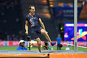 Renaud Lavillenie (FRA) win the Bronze Medal in Pole Vault Men during the European Championships 2018, at Olympic Stadium in Berlin, Germany, Day 6, on August 12, 2018 - Photo Julien Crosnier / KMSP / ProSportsImages / DPPI