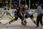 KELOWNA, CANADA - OCTOBER 19:  Tomas Soustal #15 of Kelowna Rockets faces off against Wyatte Wylie #29 of the Everett Silvertips at the Kelowna Rockets game on October 19, 2016 at Prospera Place in Kelowna, British Columbia, Canada.  (Photo By Cindy Rogers/Nyasa Photography,  *** Local Caption ***