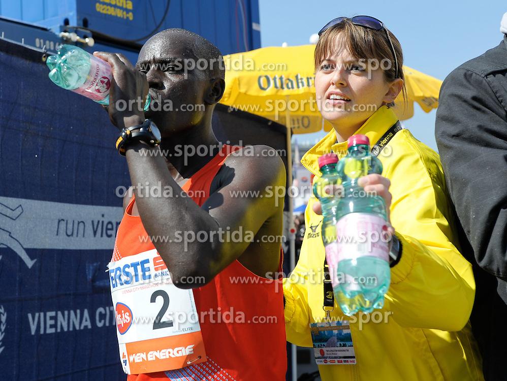 17.04.2011, AUT, Vienna City Marathon 2011, im Bild Paul Kirui (KEN, #2) im Ziel, EXPA Pictures © 2011, PhotoCredit: EXPA/ G. Holoubek