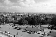 View over Paris from Sacre Coeur, France