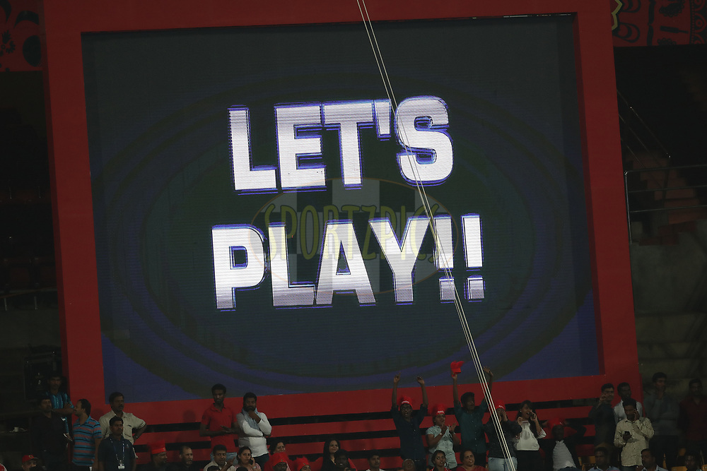 GV of the big screen during match 5 of the Vivo 2017 Indian Premier League between the Royal Challengers Bangalore and the Delhi Daredevils held at the M.Chinnaswamy Stadium in Bangalore, India on the 8th April 2017<br /> <br /> Photo by Ron Gaunt - IPL - Sportzpics
