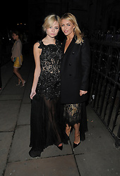 Abbey Clancy and Nina Nesbitt attend Julien Macdonald's London Fashion Week AW14 show at The Royal Courts of Justice in London, UK. 15/02/2014<br />